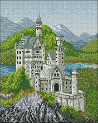 Баварский замок схема вышивки крестом