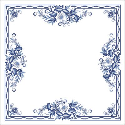 Подушка с красивым узором схема вышивки крестом