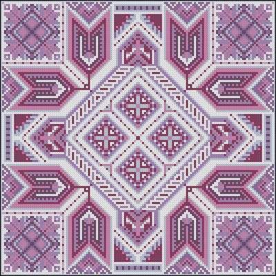 Схемы узоров вышивки крестом подушек