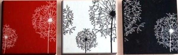 Триптих «Одуванчики»