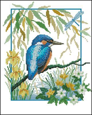 Птичка-невеличка схема вышивки крестиком