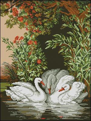 Лебеди схема вышивки крестиком скачать бесплатно
