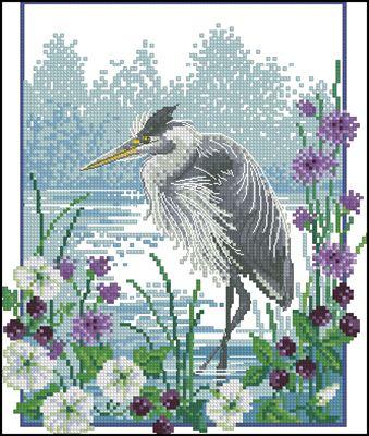 River Rambler вышивка крестом схема