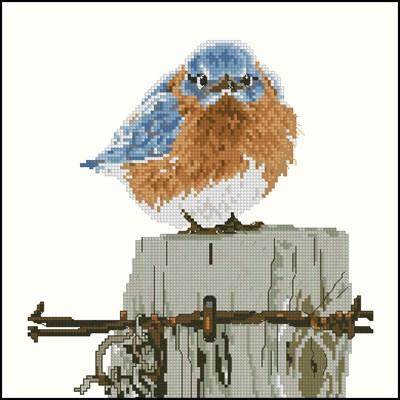 Mad Blue Bird схема вышивки крестом скачать схему бесплатно