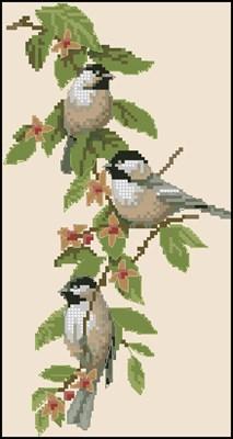 Chickadee Charm схема вышивки