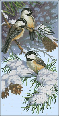 Chickadees and Pinecones
