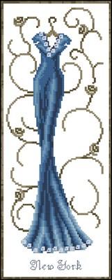 Нью Йорк (VERVACO) схема вышивки