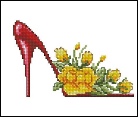 Цветочные туфельки 2