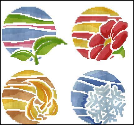 Round seasons вышивка крестом