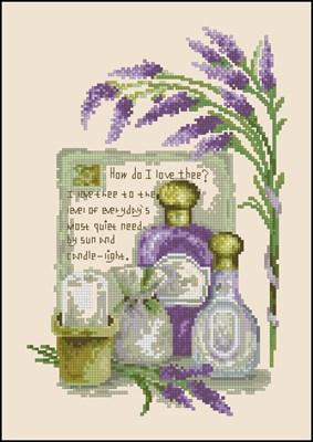 Лаванда 2 вышивка крестиком