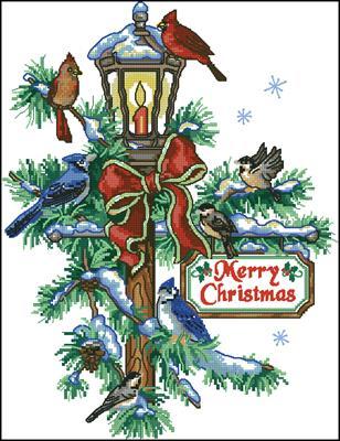 Christmas lantern quilt схема вышивки крестом