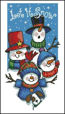 Let it Snow Banner схема вышивки крестиком скачать