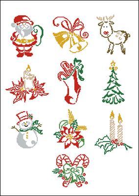 Christmas motifs схема вышивки крестом
