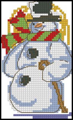 Снеговик вышивка крестом схема