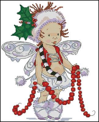 Christmas elf вышивка крестом схема