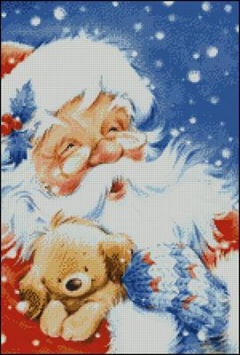 Дед Мороз 2 вышивка крестом схема беспллатно скачать