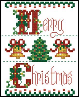 Merry Christmas вышивка крестом схема