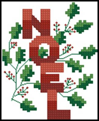 Noel вышивка крестом схема