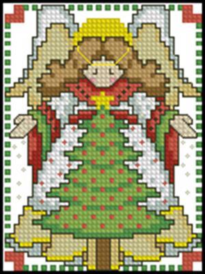 Ангел вышивка крестом схема бесплатно