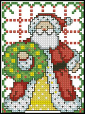 Дед Мороз схема вышивки крестиком бесплатно