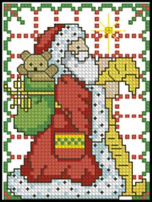 Дед Мороз вышивка крестом скачать схему