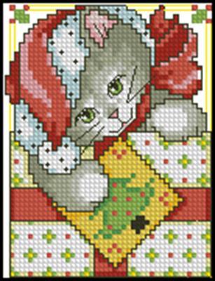 Котенок схема вышивки крестом скачать схему