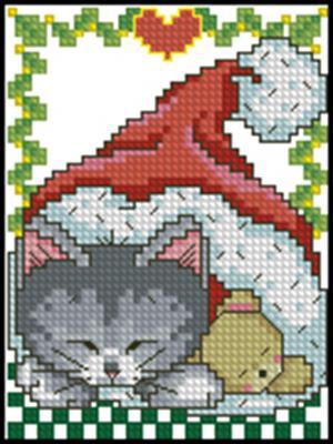 Котенок схема вышивки крестом