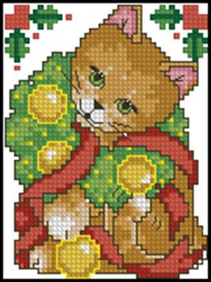 Кошечка вышивка крестом схема вышивки