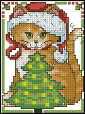 Кошка схема вышивки крестиком