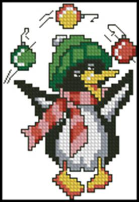 Пингвин вышивка крестом скачать схему