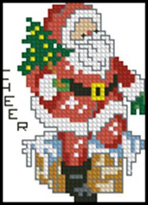 Санта вышивка крестом схема скачать