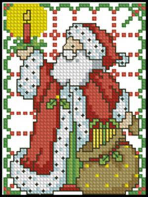 Санта вышивка крестиком