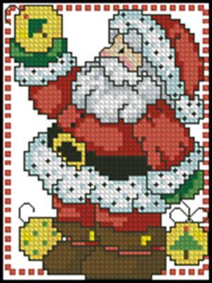 Санта вышивка крестом скачать схему