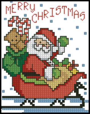 Санта схемы вышивки крестом бесплатно