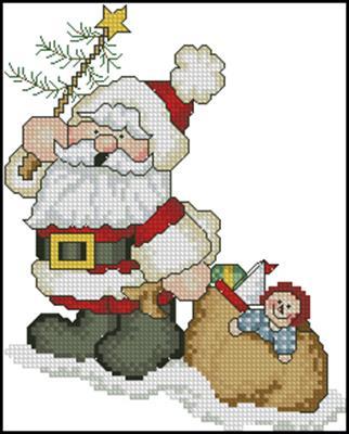 Санта схема вышивки крестом скачать