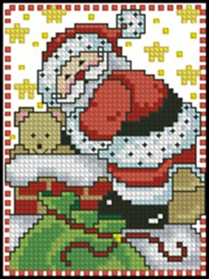 Санта на трубе вышивка крестом