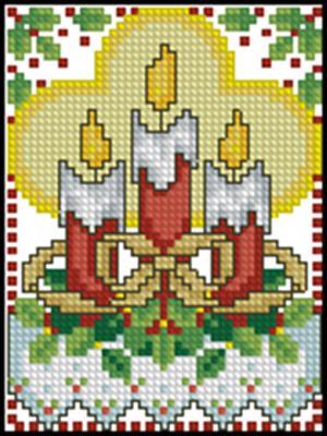 Свечи вышивка крестом бесплатно схема