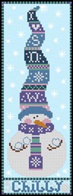 Снеговичек Chilly схема вышивки крестом
