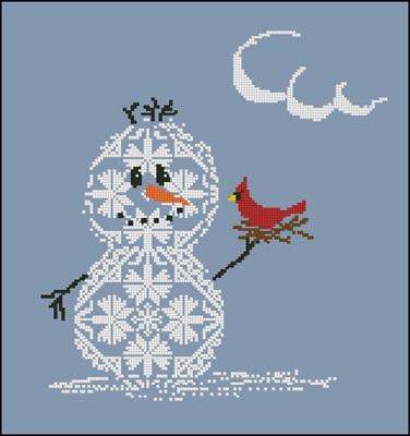 Snowman 2 вышивка крестиком схема вышивки