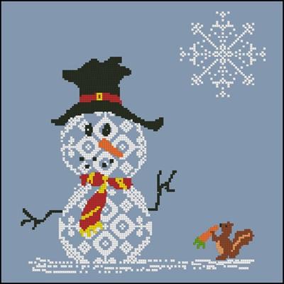 Snowman 4 схема вышивки крестиком