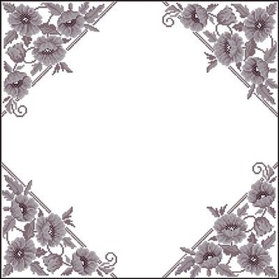 Узор для салфетки вышивка крестом скачать