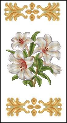 Белые лилии вышивка крестом скачать