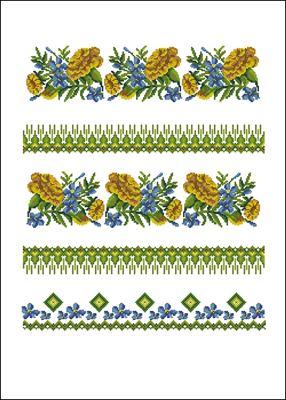Рушник с весенними цветами