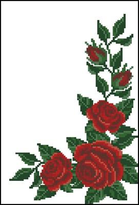 Красные розы угол