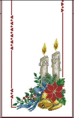 Дорожка со свечами и колокольчиками вышивать
