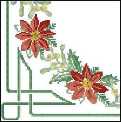Уголок схема вышивки крестом