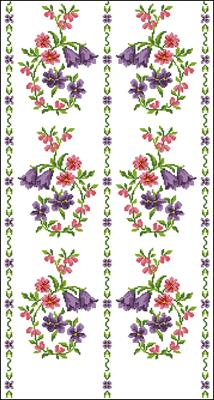 Bedspread схема вышивки