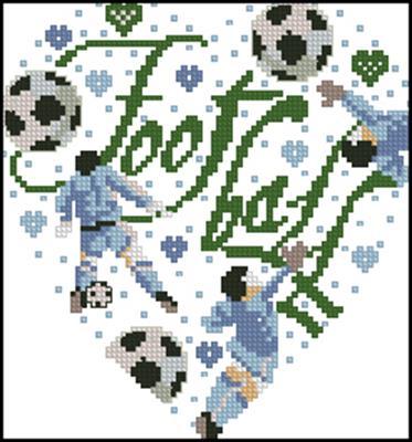Fotball heart схема вышивки