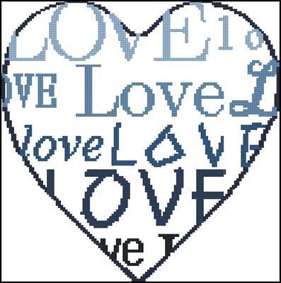 Любовь голуб. схема вышивки крестом