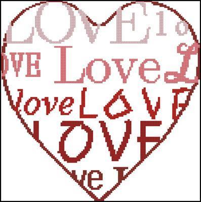 Любовь розов. схема вышивки крестиком
